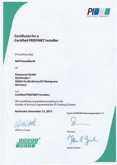 1_Zertifikat Profinet Installer Hesselbarth